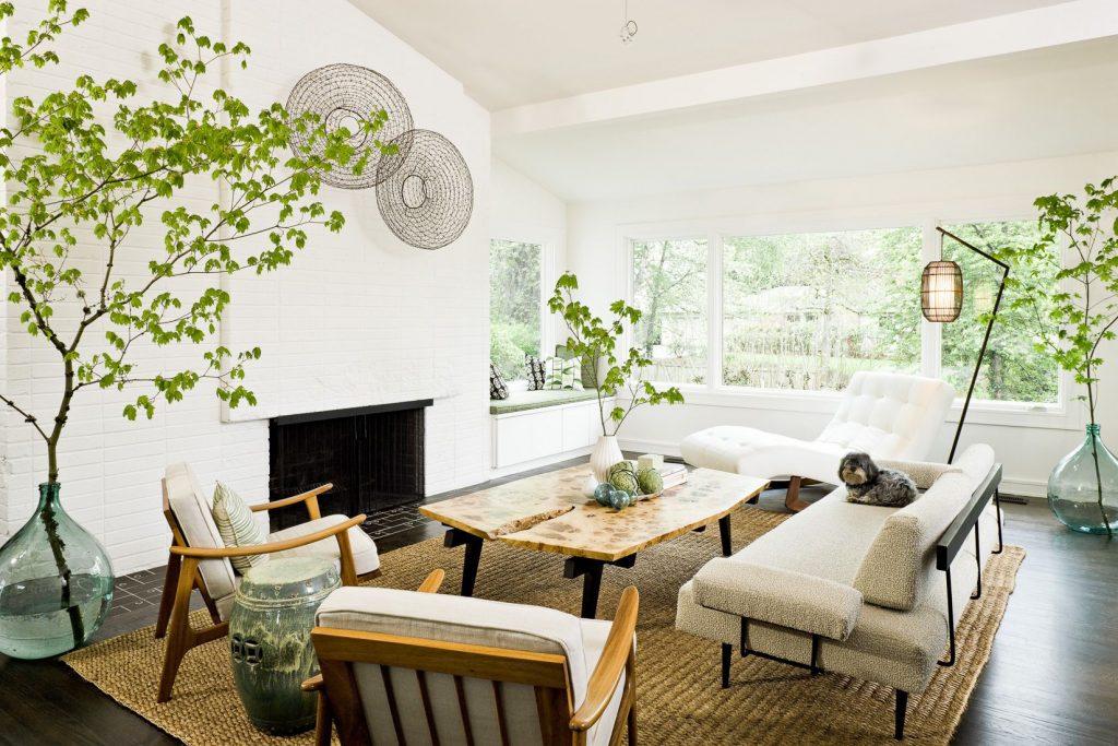 Greenery in living room