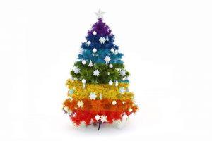 Rainbow like Christmas Tree